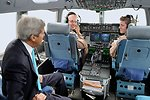 Secretary Kerry Chats With Pilots of C-17 Flying Him to South Sudan