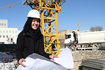 A recent graduate from USAID's Female Engineering Internship program