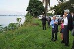 Secretary Kerry Looks Across Congo River to Brazzaville