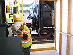 September 2009, rail cars are weighed to track the amount removed and disposed of