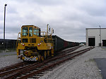 August 2009, Track-mobile moves rail cars in and out of the de-watering facility
