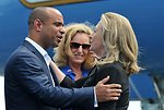 Secretary Clinton Is Greeted By Haitian Prime Minister Lamothe