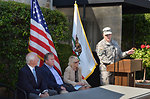 Lt. Col. Chris Tande addresses attendees during ceremony in Napa