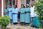 Nurses Watch as Secretary Kerry Speaks At HIV Clinic in Ethiopia