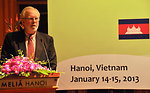 U.S. Ambassador David B. Shear addresses the Lower Mekong Initiative Infrastructure Best Practices Exchange in Hanoi