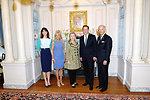 Secretary Clinton, Vice President Biden, UK Prime Minister Cameron, Dr. Biden, and Mrs. Brown Pose for a Photo