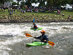 Charles-City kayakers-and-people-on-land-2