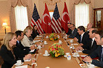 Secretary Clinton Meets With Foreign Minister of Turkey Davutoglu