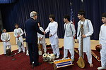 Secretary Kerry Surprises Children from the Afghan National Institute of Music