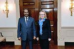 Secretary Clinton Meets With Somali President Hassan Sheikh