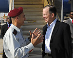 Admiral Mullen Is Welcomed to Israel By General Shamnii