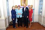 Secretary Clinton, German Chancellor Merkel, Vice President Biden, and Dr. Biden Pose for a Photo