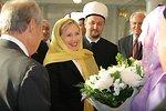 Secretary Clinton and Deputy Mufti Ramil Yunusov With Newly Wed Couple