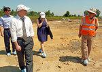 Deputy Administrator Donald Steinberg visits Danang Airport
