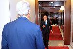 UN Secretary General Ban Ki-moon Greets Secretary Kerry