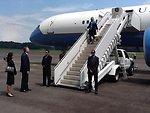 Secretary Clinton Arrives in Singapore