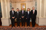 Vice President Biden, Deputy Secretary Burns, Secretary Lew, Chinese State Councilor Yang, and Chinese Vice Premier Wang Pose for a Photo