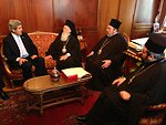 Secretary Kerry Meets With His All Holiness Bartholomew and Other Church Leaders