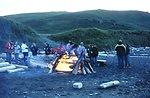 NOAA Ship RAINIER crew beach party at Chowiet Island in the Semidi Island group southwest of Kodiak Island.