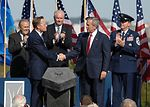 President accepts Air Force Memorial