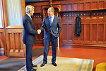 Secretary Kerry Shakes Hands With Russian Foreign Minister Lavrov