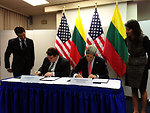 Secretary Kerry and Lithuanian Foreign Minister Linkevicius Sign Agreement for Cooperation on Countering Nuclear Smuggling