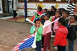 South African Children Play Their Vuvuzelas