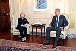 Secretary Clinton Meets With Quartet Representative Blair