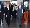 Secretary Clinton Arrives at U.S. Embassy in Kenya