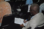 Observers Take Notes at a U.S. Center Side Event