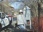 February 2001, Installing air monitoring equipment