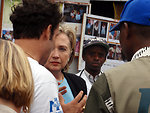 Behind the Scenes: Secretary Clinton Visits Mugunga IDP Camp