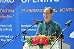 USAID Mission Director Francis Donovan addresses the kindergarten handover ceremony in June 16, 2011.