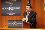Julius Knapp, Chief of the Office of Engineering and Tech at the FCC, addresses the spectrum summit