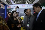 Provincial Minister for Agriculture visiting the stall of USAID's Entrepreneurs Project at Dawn Sarsabz  Pakistan Agri Expo.