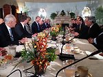 Secretary Kerry Holds a Meeting with the Arab League Delegation