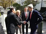 Secretary Kerry Is Greeted Ambassador Kennard