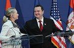 Secretary Clinton, Serbian Prime Minister Dačić, and EU High Representative Ashton Address Reporters