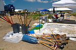 June 1, Cleanup staging area