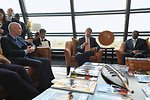 Ambassador Swan Listens As Secretary Kerry Addresses Reporters in Kinshasa