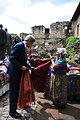 Secretary Kerry Admires the Work of a Textile Worker