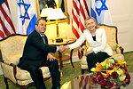 Secretary Clinton Holds a Bilateral Meeting With Israeli Defense Minister Barak