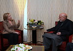 Secretary Clinton Holds a Bilateral Meeting With Afghan President Karzai