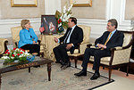 Secretary Clinton Meets With Punjab Governor
