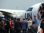 Behind the Scenes: Secretary Clinton Arrives in Goma