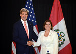 Secretary Kerry Meets With Peruvian Foreign Minister Rivas