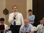 Dr. James Kile, CDC Vietnam, speaks at a Conference on Resource Mobilization for Influenza A (H7N9) Prevention, Control and Preparedness in Vietnam