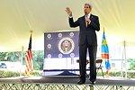 Secretary Kerry Addresses Members of Embassy Kinshasa