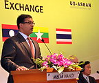 Mr. Nirav Pate, Deputy Assistant Secretary, Bureau of East Asian and Pacific Affairs, U.S. Department of State, speaks at the Lower Mekong Initiative Infrastructure Best Practices Exchange in Hanoi