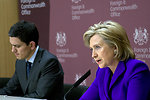 Secretary Clinton and Foreign Minister David Miliband